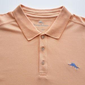 Tommy Bahama Light Orange Golf Polo Shirt Size XXL